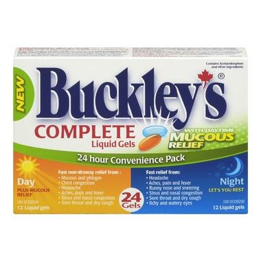 BUCKLEY'S LIQ-GEL DAY/NIG 325/15/6.25/30M