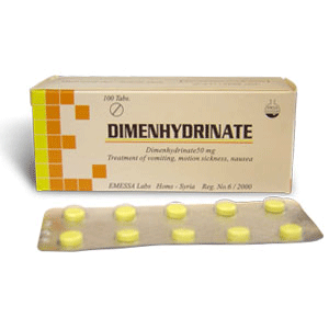 DIMENHYDRINATE 30 50MG